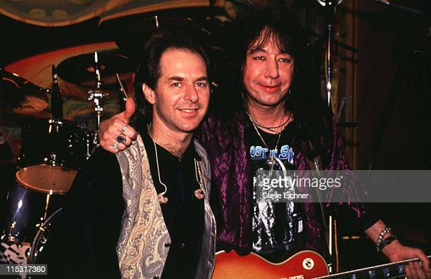 Anton Fig with Ace Frehley of KISS during Ace Frehley of KISS at Electric Ladyland Studios at Electric Ladyland Studios in New York City New York...