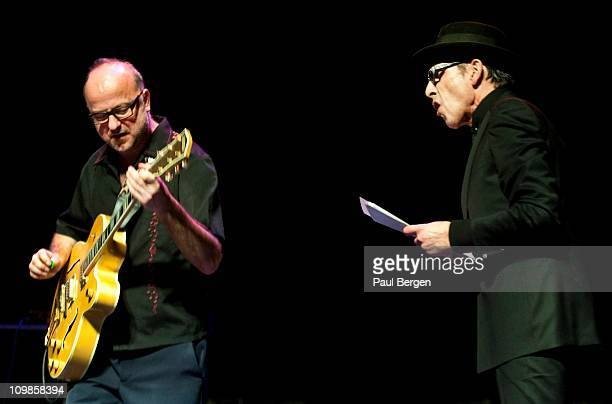 Anton Goudsmit and Jules Deelder of the New Cool Collective perform on stage at Diligentia Den Haag Netherlands 4th February 2011