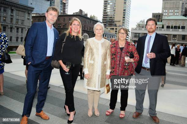 Anton Gueth Pamela Harrington Honoree and Cofounder of Bring Change 2 Mind Glenn Close Jessie Close and Calen Pick attend the 2018 Change Maker...