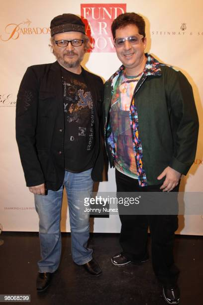 Anton Kandinsky and Noah G Pop attend Fund Art Now's celebrity charity event at Collective Hardware on March 25 2010 in New York City