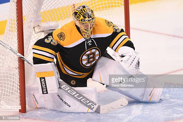 Anton Khudobin of the Boston Bruins against the Montreal Canadiens at the TD Garden on October 22 2016 in Boston Massachusetts