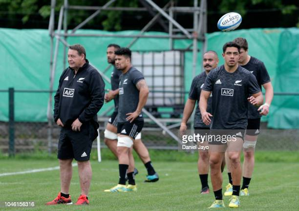 Anton Lienert Brown of New Zealand All Blacks in action during a training session ahead of the match against Argentina as part of The Rugby...