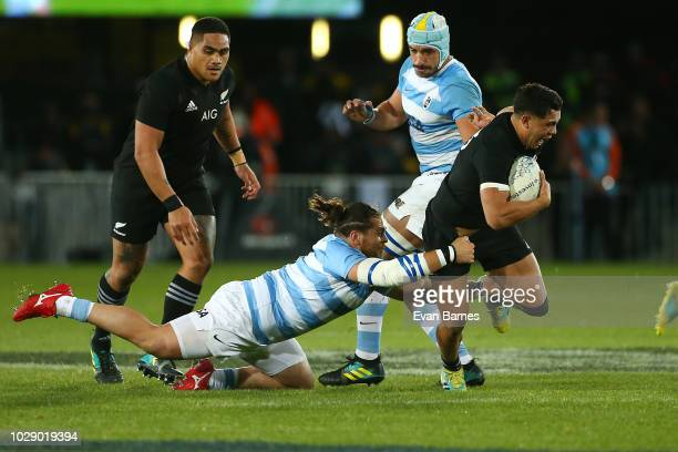 Anton LienertBrown during The Rugby Championship between the New Zealand All Blacks and Argentina at Trafalgar Park on September 8 2018 in Nelson New...