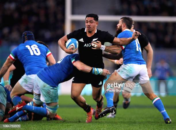 Anton LienertBrown of New Zealand in action during the international friendly match between Italy and New Zealand at Stadio Olimpico on November 24...