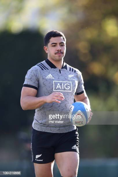 Anton LienertBrown of the All Blacks warms up during a New Zealand All Black training session on November 22 2018 in Rome Italy
