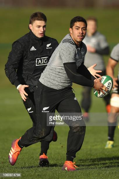 Anton LienertBrown of the New Zealand All Blacks during a training session at the Sport Ireland Institute on November 13 2018 in Dublin Ireland