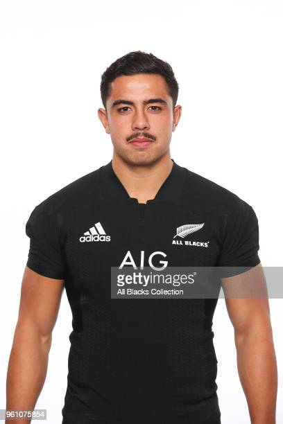 Anton LienertBrown poses during a New Zealand All Blacks headshots session on May 21 2018 in Auckland New Zealand