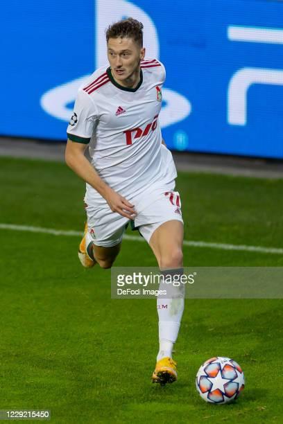 Anton Miranchuk of FC Lokomotiv Moskva controls the ball during the UEFA Champions League Group A stage match between RB Salzburg and Lokomotiv...