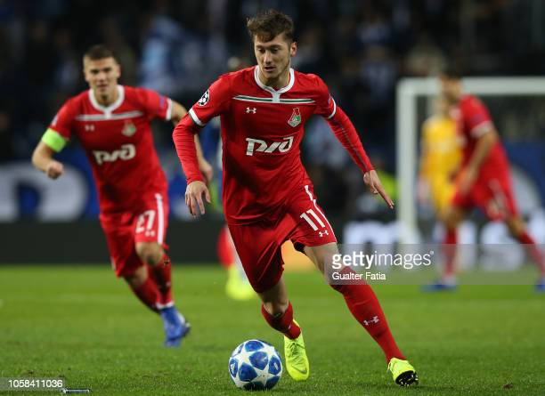 Anton Miranchuk of Lokomotiv Moscow in action during the UEFA Champions League Group D match between FC Porto and Lokomotiv Moscow at Estadio do...