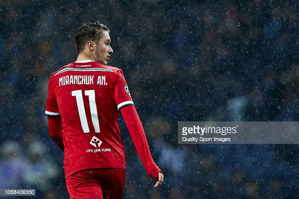 Anton Miranchuk of Lokomotiv Moscow looks on during the Group D match of the UEFA Champions League between FC Porto and FC Lokomotiv Moscow at...