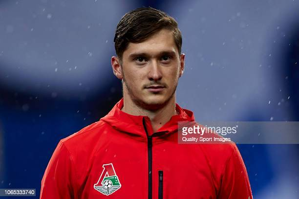 Anton Miranchuk of Lokomotiv Moscow looks on prior to the Group D match of the UEFA Champions League between FC Porto and FC Lokomotiv Moscow at...