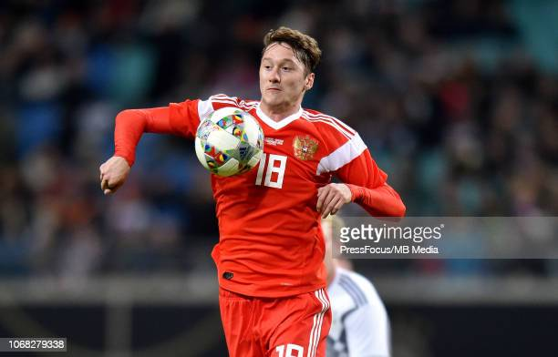 Anton Miranchuk of Russia in action during International Friendly match between Germany and Russia at Red Bull Arena on November 15 2018 in Leipzig...