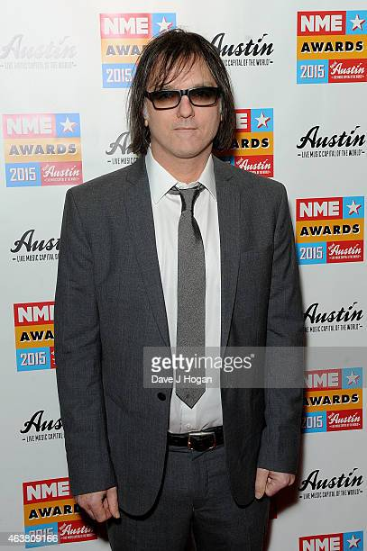Anton Newcombe attends the NME Awards at Brixton Academy on February 18 2015 in London England