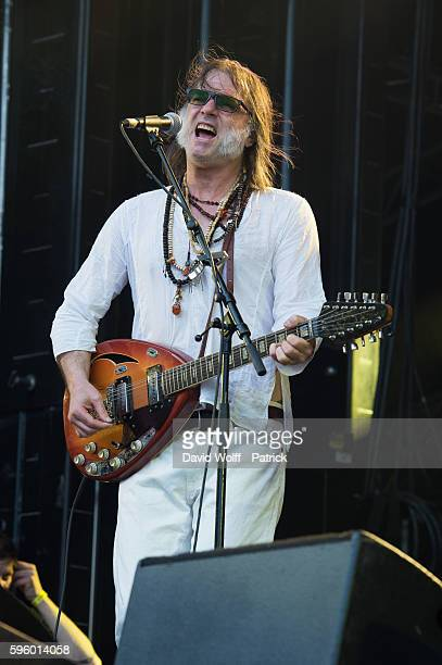 Anton Newcombe from Brian Jonestown Massacre performs at Rock en Seine on August 26 2016 in Paris France