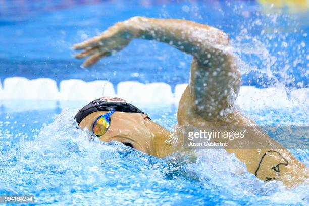Anton Oerskov Ipsen competes in the men's 800m freestyle final at the 2018 TYR Pro Series on July 8 2018 in Columbus Ohio