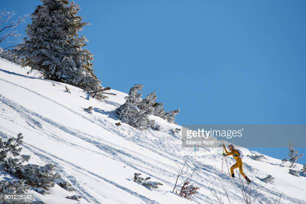Anton Palzer of Germany competes during the Individual race of the Jennerstier German Ski Mountaineering Championships on February 19 2017 in...