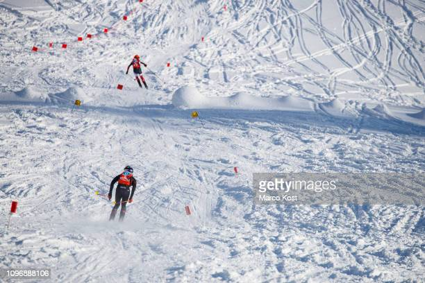 Anton Palzer of Germany descends during the ISMF Ski Mountaineering Worldcup individual race on January 20 2019 in Bischofshofen Austria