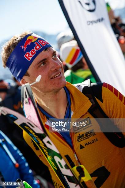 Anton Palzer of Germany smiles after winning the Individual race of the Jennerstier German Ski Mountaineering Championships on February 19 2017 in...