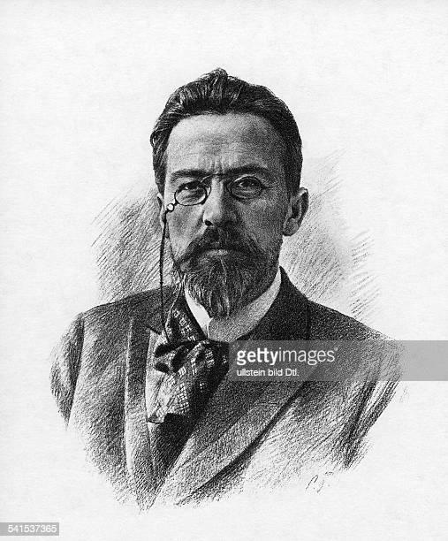 Anton Pavlovich Chekhov *29011860 writer dramatist Russia portrait drawing by S Bondar