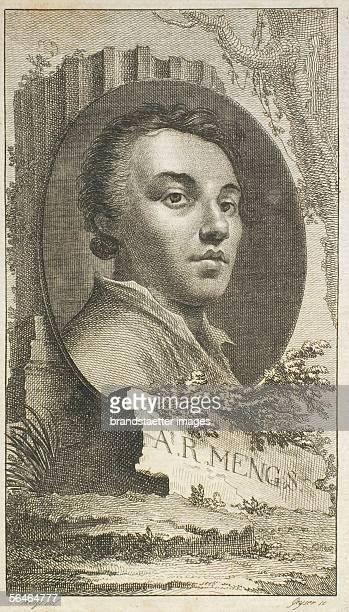 Anton Raphael Mengs Etching by Geyser after a drawing by A R Mengs 18th century [A R Mengs Radierung von Geyser nach einer Zeichnung von A R Mengs 18...