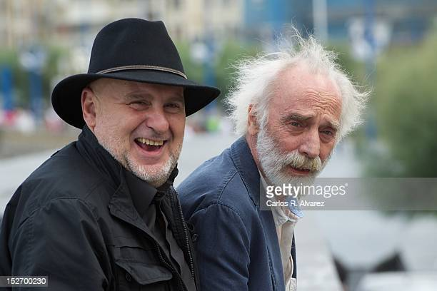 "Anton Reixa and Spanish singer Javier Krahe attend the ""Esta No Es La Vida Privada De Javier Krahe"" Photocall at the Kursaal Palace during the 60th..."
