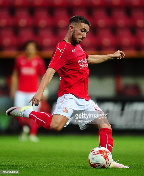 Anton Rodgers of Swindon Town during the Pre Season Friendly match between Swindon Town and Swansea City at the County Ground on July 27 2016 in...