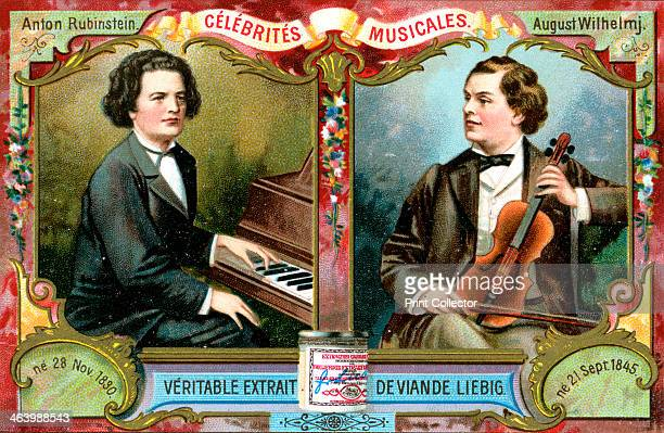 Anton Rubinstein and August Wilhelmj c1900 Musicians Anton Rubinstein and August Wilhelmj French advertising for Liebig extract of meat c1900