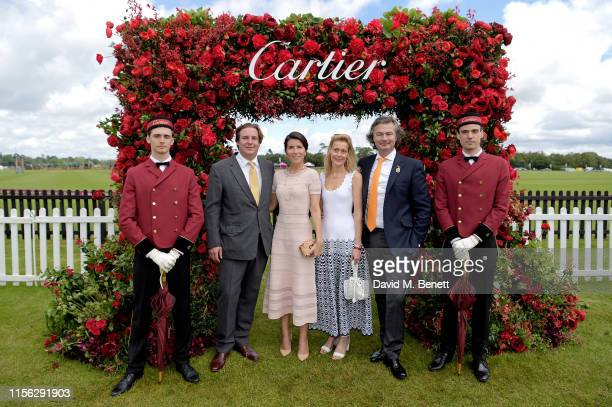 Anton Rupert Jr, Alice Rivier, Ms Feniou and Laurent Feniou attend Cartier Queen's Cup Polo 2019 on June 16, 2019 in Windsor, England.