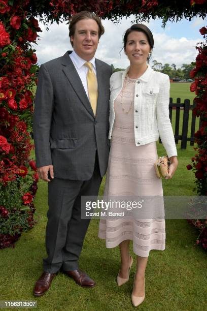 Anton Rupert Jr and Alice Rivier attend The Cartier Queen's Cup Polo Final 2019 on June 16, 2019 in Windsor, England.