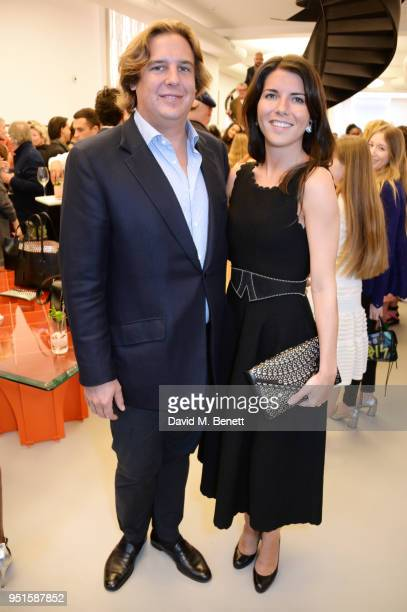 Anton Rupert Jr and Alice Rivier attend the opening of Maison Alaia on New Bond Street on April 26, 2018 in London, England.