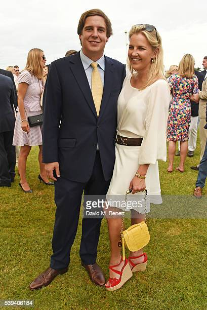 Anton Rupert Jr and Hanneli Rupert attend The Cartier Queen's Cup Final at Guards Polo Club on June 11 2016 in Egham England
