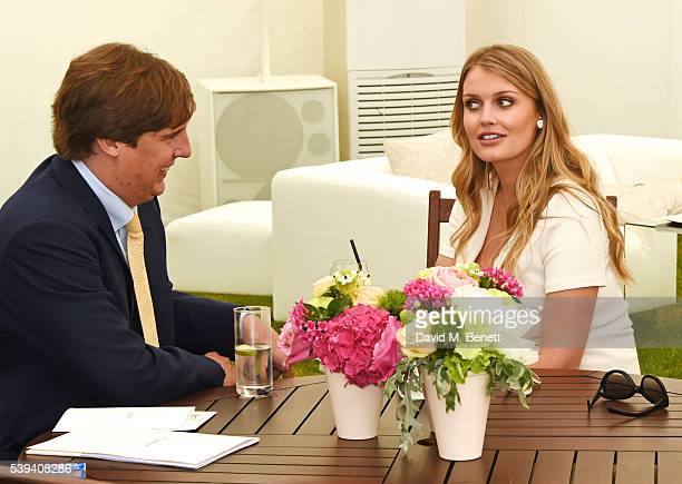 Anton Rupert Jr and Lady Kitty Spencer attend The Cartier Queen's Cup Final at Guards Polo Club on June 11, 2016 in Egham, England.