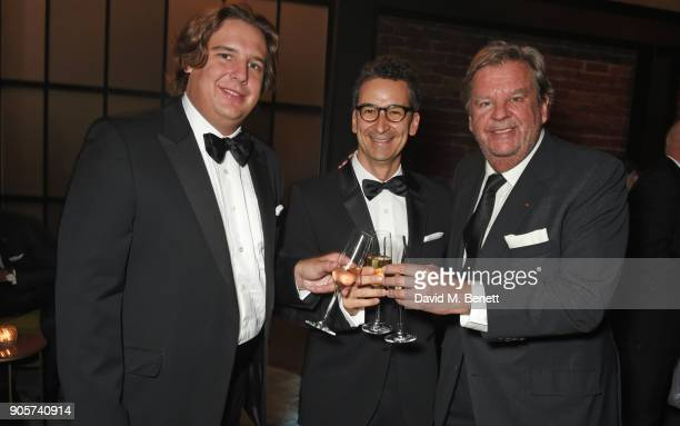 Anton Rupert Jr, Federico Marchetti and Johann Rupert attend the IWC Schaffhausen Gala celebrating the Maison's 150th anniversary and the launch of...