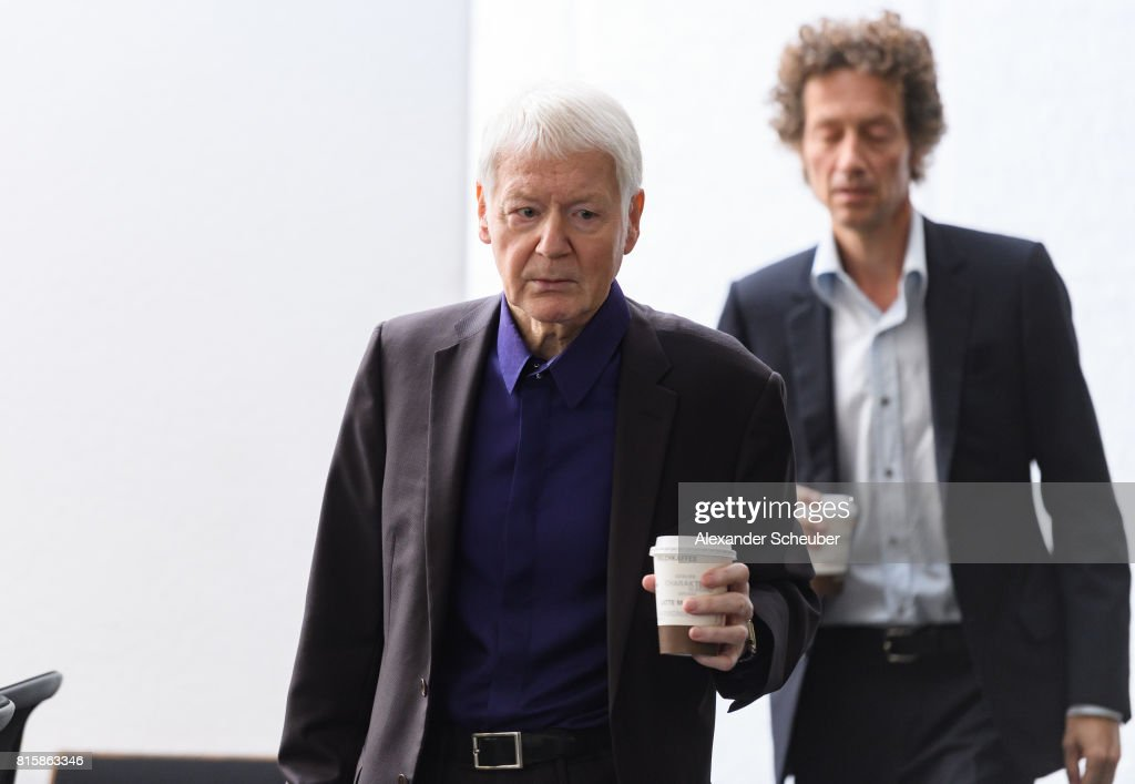Anton Schlecker (L), founder of the now bankrupt German drugstore chain Schlecker and his son Lars Schlecker (R) arrive for the continuation of the trial on July 17, 2017 in Stuttgart, Germany. Anton Schlecker, along with his wife Christa and their children Meike and Lars, face charges in connection with the bankruptcy of the Schlecker chain in 2012, including deception of bankruptcy administrators and the illegal withdrawal of millions of Euros from Schlecker assets before bankruptcy proceedings began. Approximately 25,000 people lost their jobs at Schlecker due to the bankruptcy.