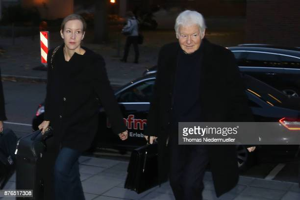 Anton Schlecker founder of the now bankrupt German drugstore chain Schlecker and his daugther Meike arrives for the day defense and prosecution...