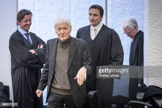 Anton Schlecker founder of the now bankrupt German drugstore chain Schlecker arrives for the last day of his trial and a verdict by the court on...