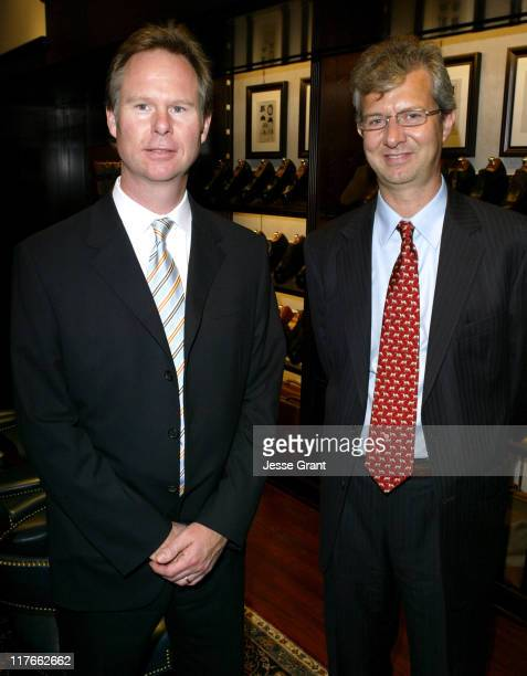 Anton Segerstrom and Claudio Del Vecchio during Brooks Brothers Grand Opening Event to Benefit Hoag Memorial Hospital at South Coast Plaza in Costa...