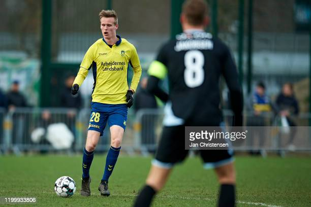 Anton Skipper of Brondby IF in action during the testmatch between Brondby IF and SonderjyskE at Brondby Stadion on February 10, 2020 in Brondby,...