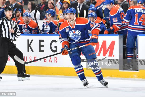 Anton Slepyshev of the Edmonton Oilers skates during the game against the Nashville Predators on January 20 2017 at Rogers Place in Edmonton Alberta...