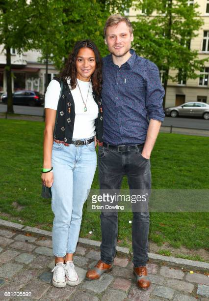 Anton Spieker and his guest attends the 'Culpa' world premiere at Zionskirche on May 9 2017 in Berlin Germany