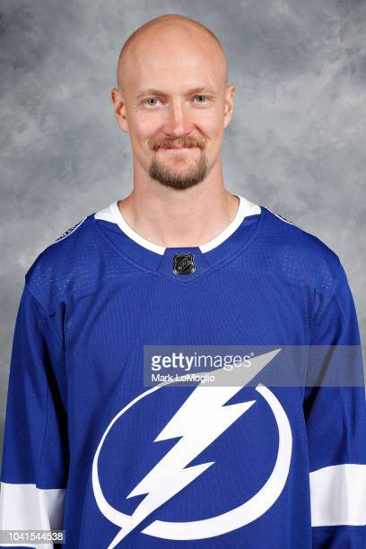 Anton Stralman of the Tampa Bay Lightning poses for his official headshot for the 20182019 season on September 13 2018 at Amalie Arena in Tampa...