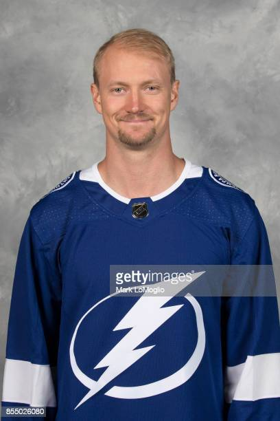 Anton Stralman of the Tampa Bay Lightning poses for his official headshot for the 20172018 season on September 14 2017 at Amalie Arena in Tampa...