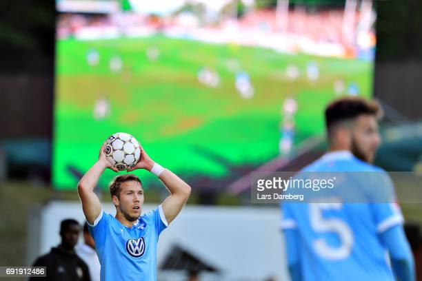 Anton Tinnerholm of Malmo FF during the Allsvenskan match between Jonkopings Sodra IF and Malmo FF at Stadsparksvallen on June 3 2017 in Jonkoping...