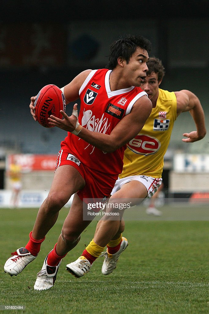 Anton Woods of the Bullants runs with the ball during the round eight VFL match between the Bullants and the Gold Coast on June 5, 2010 in Melbourne, Australia.