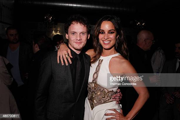 Anton Yelchin and Berenice Marlohe attend the 5 To 7 Cast Dinner At Supper Suite By STK Hosted With Fiji Water And Dobel Tequila on April 19 2014 in...
