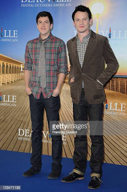 Anton Yelchin and Christopher Mintz-Plasse pose at the 'Fright Night' Photocall during the 37th Deauville American Film Festival on September 3, 2011...