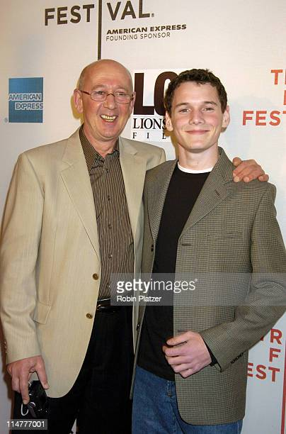 Anton Yelchin and father Victor during 4th Annual Tribeca Film Festival Fierce People World Premiere at Tribeca Performing Arts Center in New York...