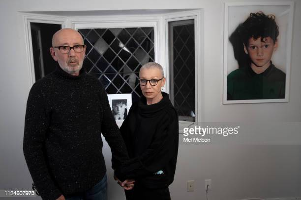 Anton Yelchin's parents Viktor and Irina Yelchin are photographed for Los Angeles Times on January 16 2019 at his home in Studio City California...