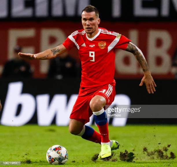 Anton Zabolotny of Russia in action during the international friendly match between Germany and Russia on November 15 2018 at Red Bull Arena in...