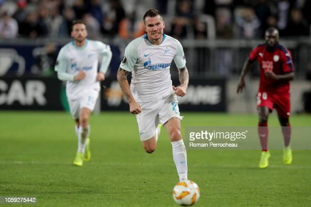 Anton Zabolotny of Zenit Saint Petersburg in action during the UEFA Europa League Group C match between Girondins de Bordeaux and Zenit Saint...